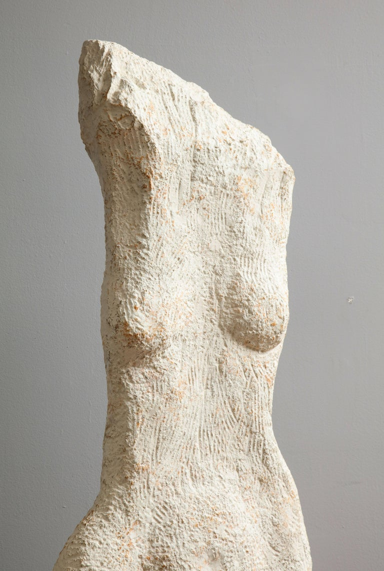 Mid-Century Modern Modernist Stone Sculpture of a Female Nude Torso For Sale