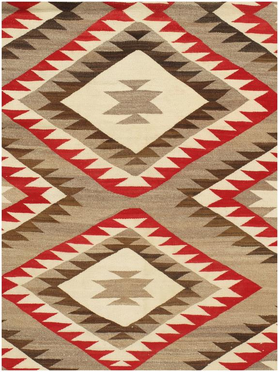 Extremely Rare Room Size Vintage Navajo Rug For Sale At