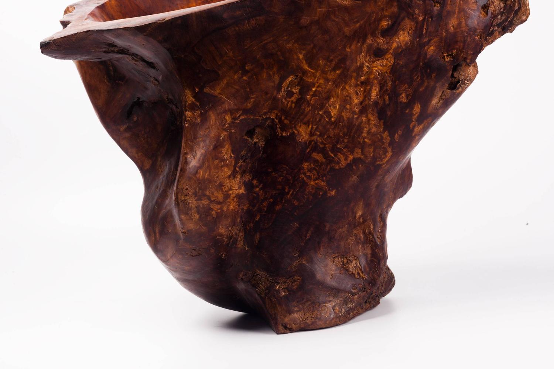 Large burl wood catchall sculpture centerpiece s for