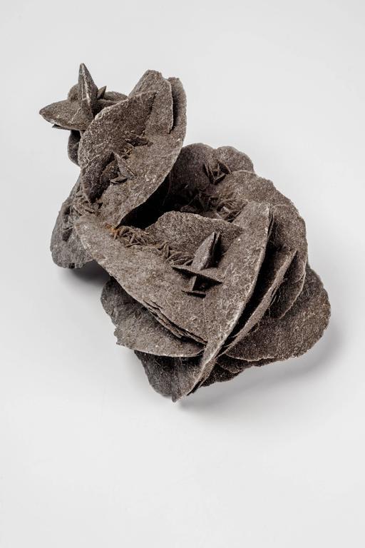 Organic Modern Sculptural Paperweight Mineral Desert Rose For Sale