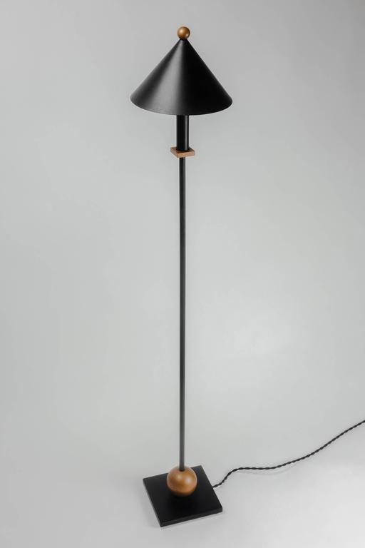 Floor Lamp By Robert Sonneman For Kovacs Metal In Black