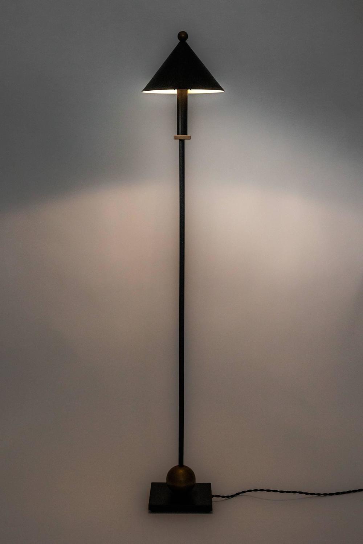 floor lamp by robert sonneman for kovacs metal in black and gold. Black Bedroom Furniture Sets. Home Design Ideas