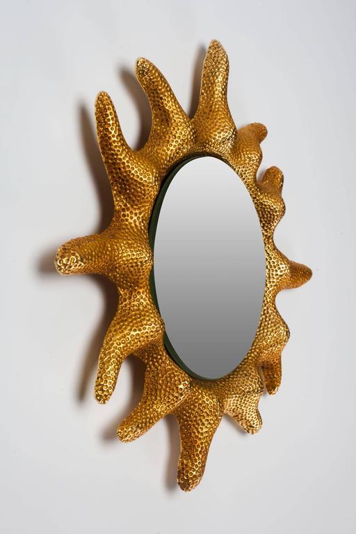 Gilt Bronze Sun Mirror by Stéphane Galerneau for Fondica, France, 1995 3