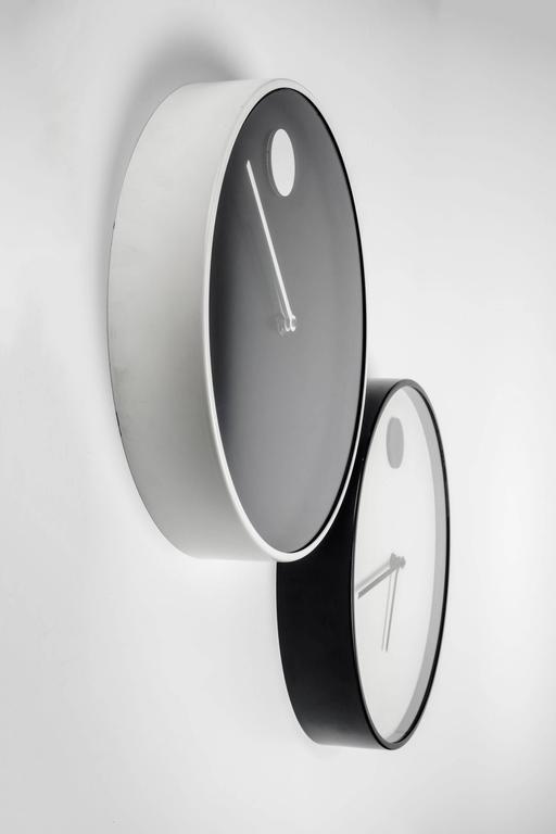 Wall Clock by George Horwitt for Howard Miller, Black, White Frame, 1970s 2