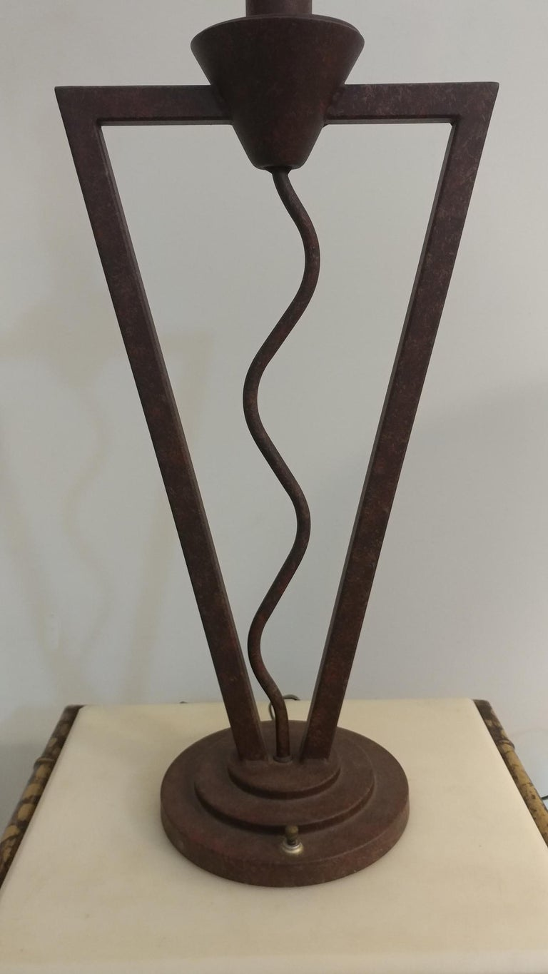 Post-Modern Unique Postmodern Memphis Style Table Lamp Offered by La Porte For Sale
