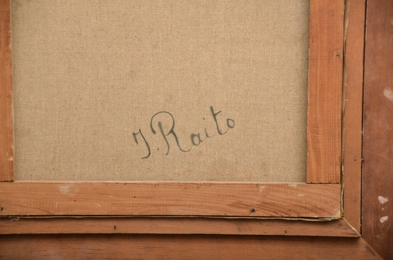 20th Century Signed Italian Surrealist Painting by T. Raito For Sale