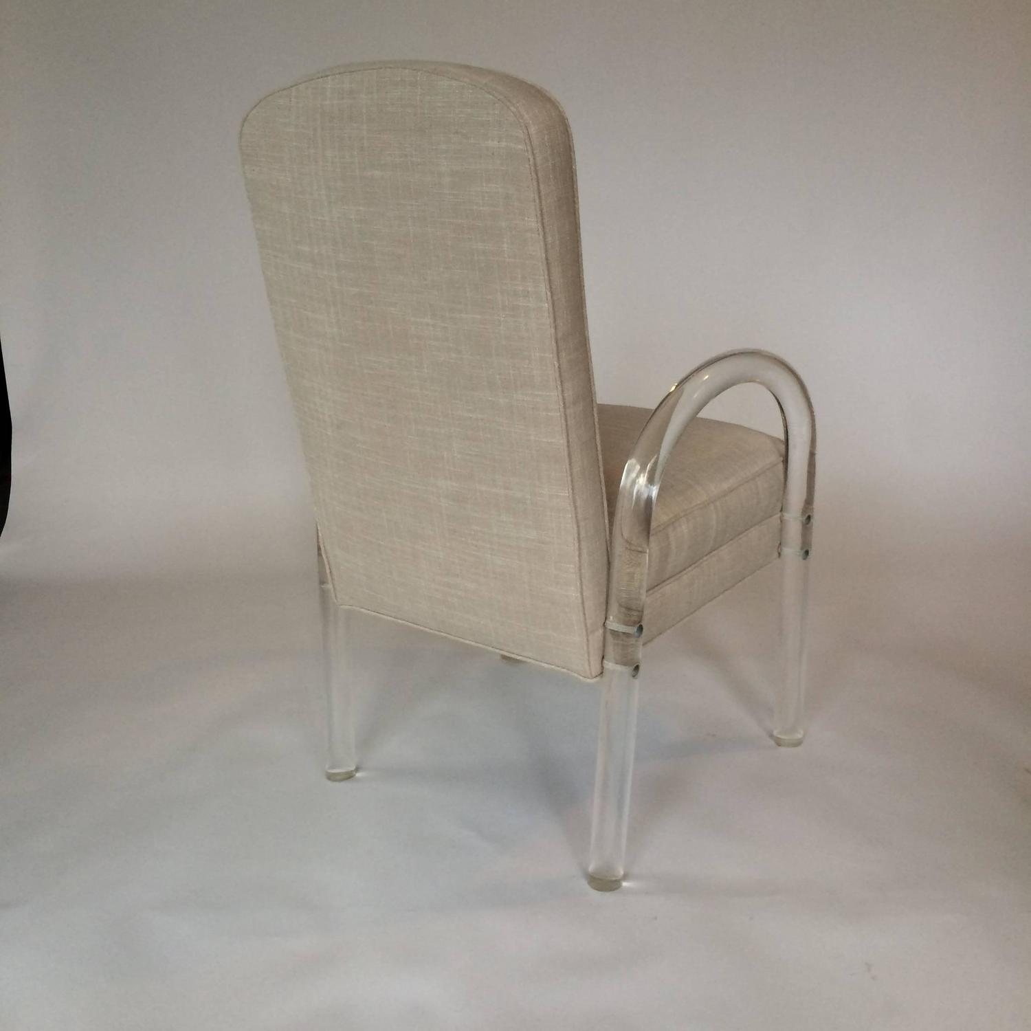 Mid Century Lucite Dining Chairs Set Of Six BY FURNISH Inc