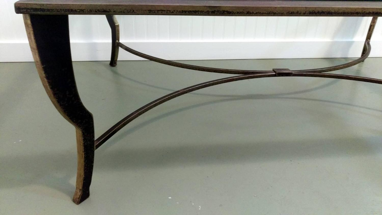 Maison ramsay gilded wrought iron coffee table for sale at for Wrought iron coffee table for sale