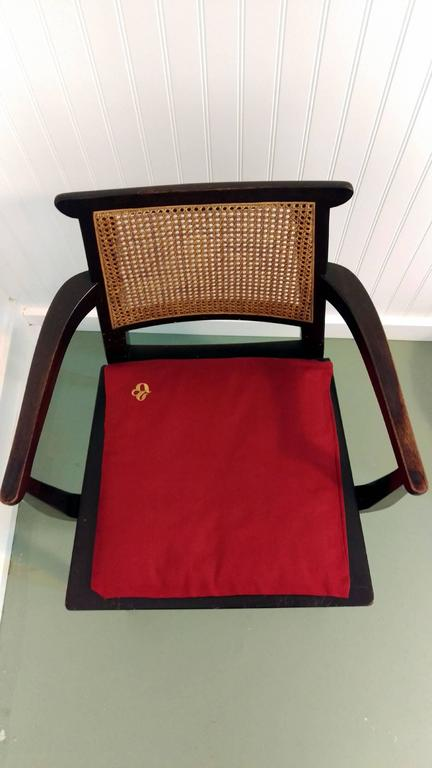 American Mahogany Gaming Armchair by Edward Wormley for Dunbar, offered by La Porte For Sale