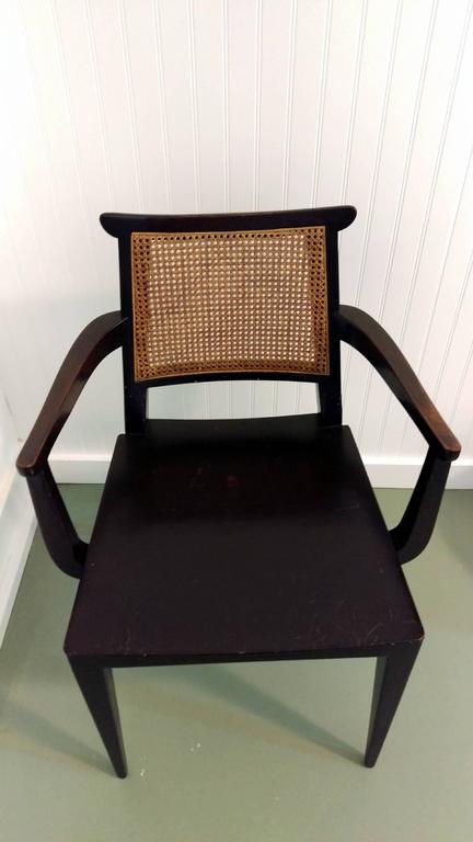Mahogany Gaming Armchair by Edward Wormley for Dunbar, offered by La Porte In Fair Condition For Sale In Southampton, NY