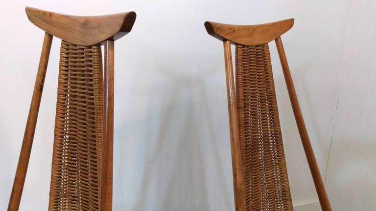 Mid-Century Modern Rare Pair of Sculptural Easy Chairs by Ilmari Tapiovaara, Offered by La Porte For Sale