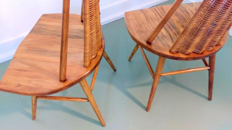 Finnish Rare Pair of Sculptural Easy Chairs by Ilmari Tapiovaara, Offered by La Porte For Sale