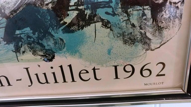 French Dual Le Ciel Blue, L'Oiseau Vert Marc Chagall, Mourlot, Paris, 1960s Lithographs For Sale