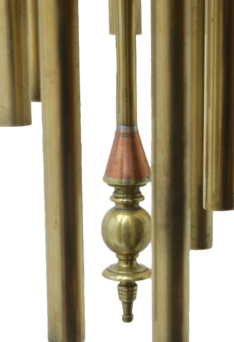 Arts and Crafts Arts & Crafts Chime Tubular Bells, Brass Wall Mounted Dinner Gong 'Doorbell'   For Sale