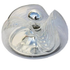 1970s Clear Glass Biomorphic Wall Light Sconces by Peill & Putzler