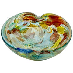 Tutti Frutti Murano Art Glass Bowl Attributed to Dino Martens, 1960s