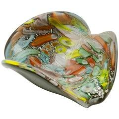 Tutti Frutti Murano Art Glass Bowl Attributed to Dino Martens, 1960s