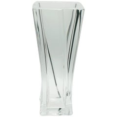 Daum France Large Crystal Vase Signed to the Base