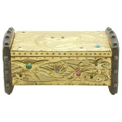 Alfred-Louis-Achille Daguet Art Nouveau Crab Box, circa 1900