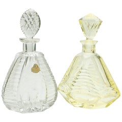 Crystal Acid Etched Decanter, Hand-Cut and Etching Technics 'Craftsmanship'