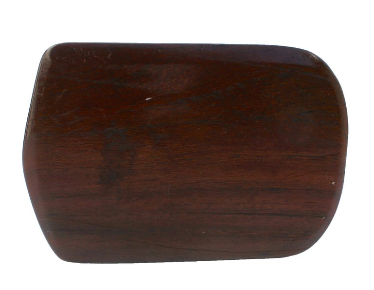 Mid-20th Century Paperweight Made of Hardwood Carving Depicting a Animal Head For Sale