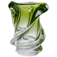 Val Saint Lambert Crystal Vase Origin, Belgium in Excellent Condition, 1950s