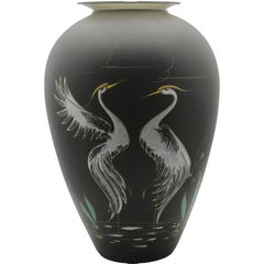 "Ruscha Keramik Signed Large ""Heron"" Vase in Ceramic, Hans Welling, 1950s"