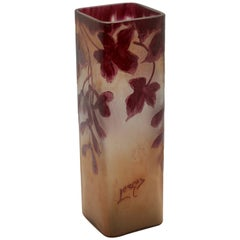 Signed Legras Rubis Series Glass Vase, 1900-1914
