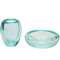 Matching Bubble Glass Set by Gunnel Nyman 'Nuutajarvi', circa 1950