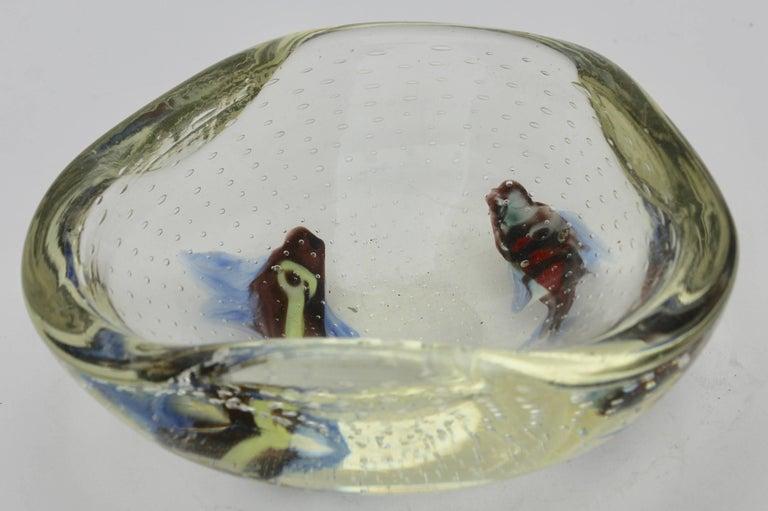 Mid-20th Century Midcentury Italian Murano Art Glass Aquarium Fish Bowl Sculpture For Sale