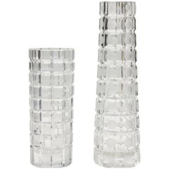 Art Deco Cristal Vases Hand-Cut and Etching Technics 'Craftsmanship'