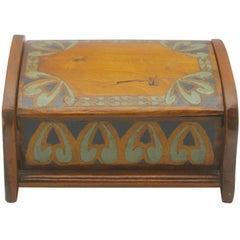 Arts & Crafts Box with Decorative Hand Painted Decor, circa 1910