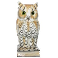 Rare and Gorgeous Owl Perfume Lamp, circa 1930-1940