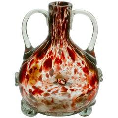 Studio-Glas-Vase Basierend auf einer Mundgeblasenen Flaschenform von Schildpatt