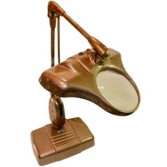 Stunning Vintage Dazor Floating Lamp with Magnifier