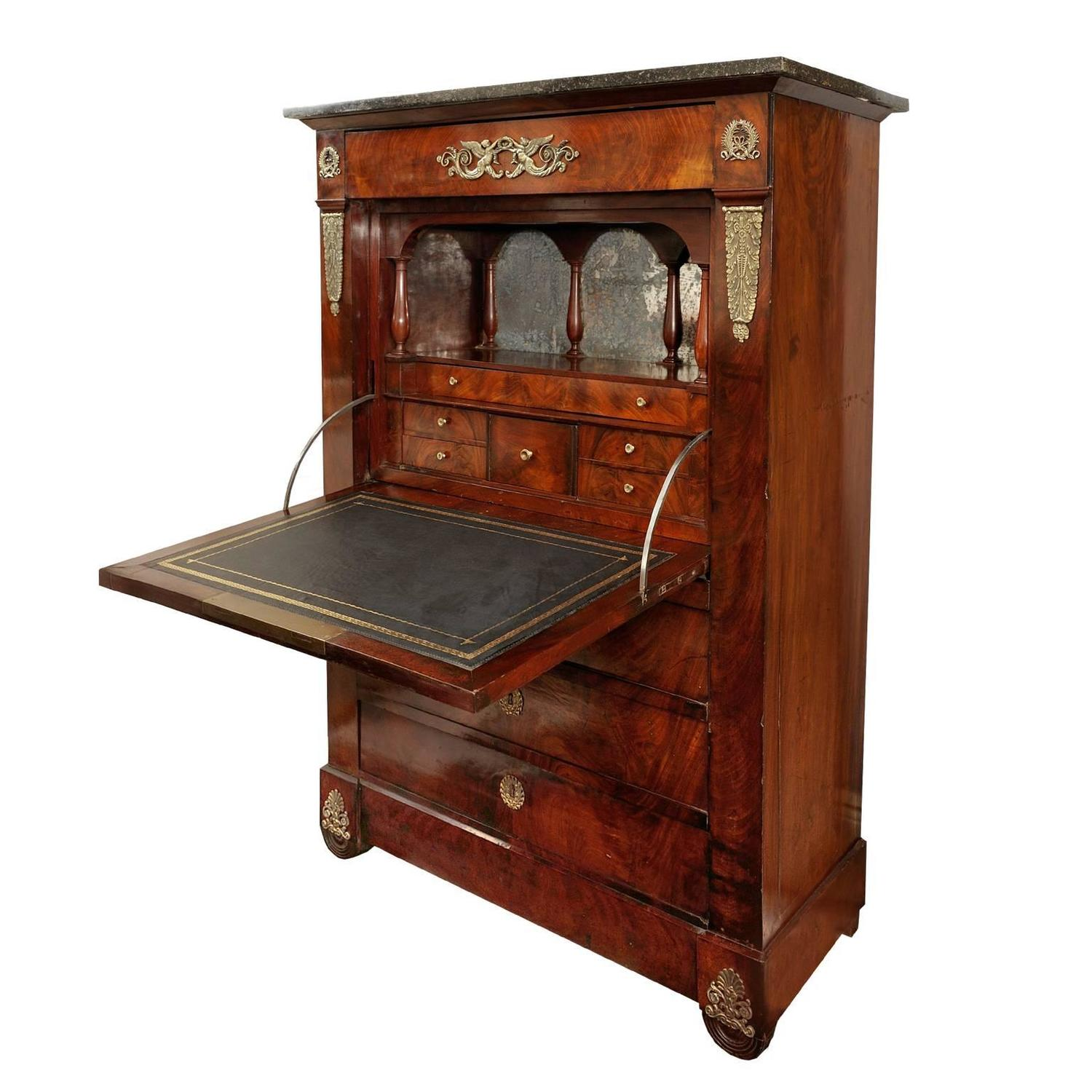french early 19th century napoleonic secretaire a abattant circa 1820 for sale at 1stdibs. Black Bedroom Furniture Sets. Home Design Ideas