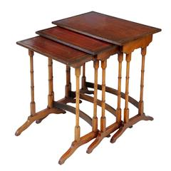 Nest of Three Late 19th Century Georgian Style Mahogany Side Tables, circa 1890