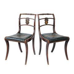 English Regency Side Chairs, circa 1810