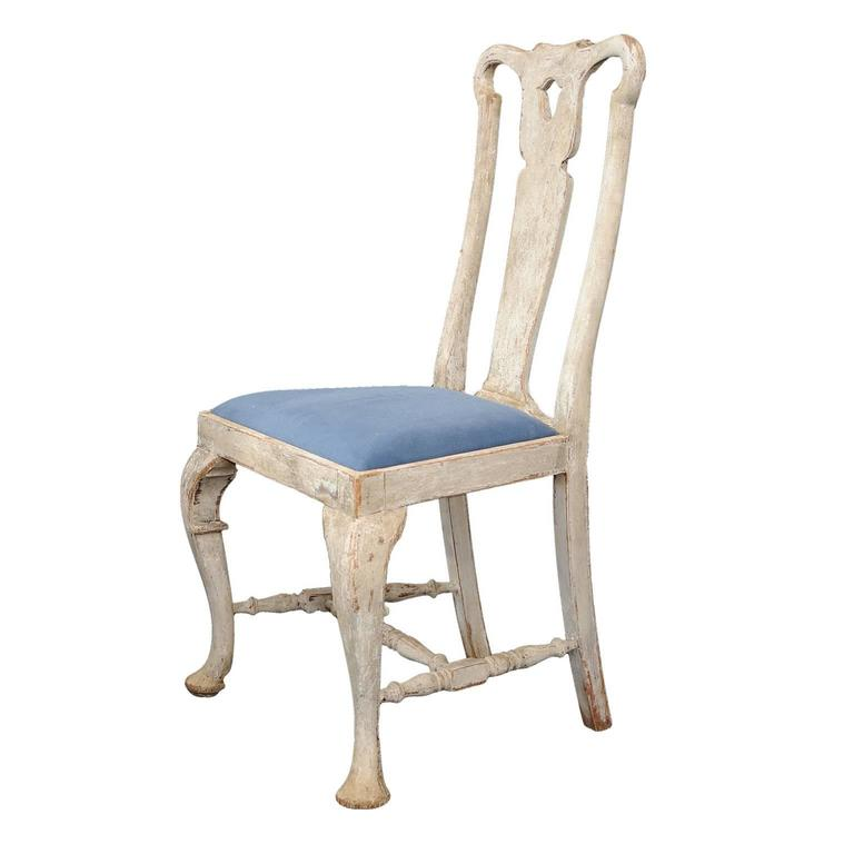 Set of high back scandinavian style painted dining chairs for Swedish style dining chairs