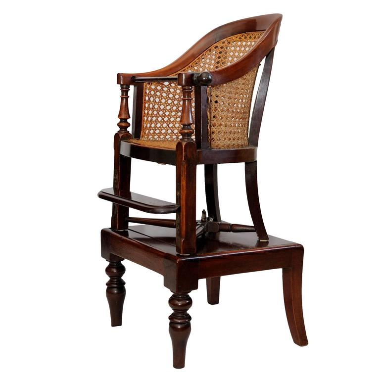 English George III Late 18th Century Mahogany Childs Chair and Table, circa 1790 For Sale