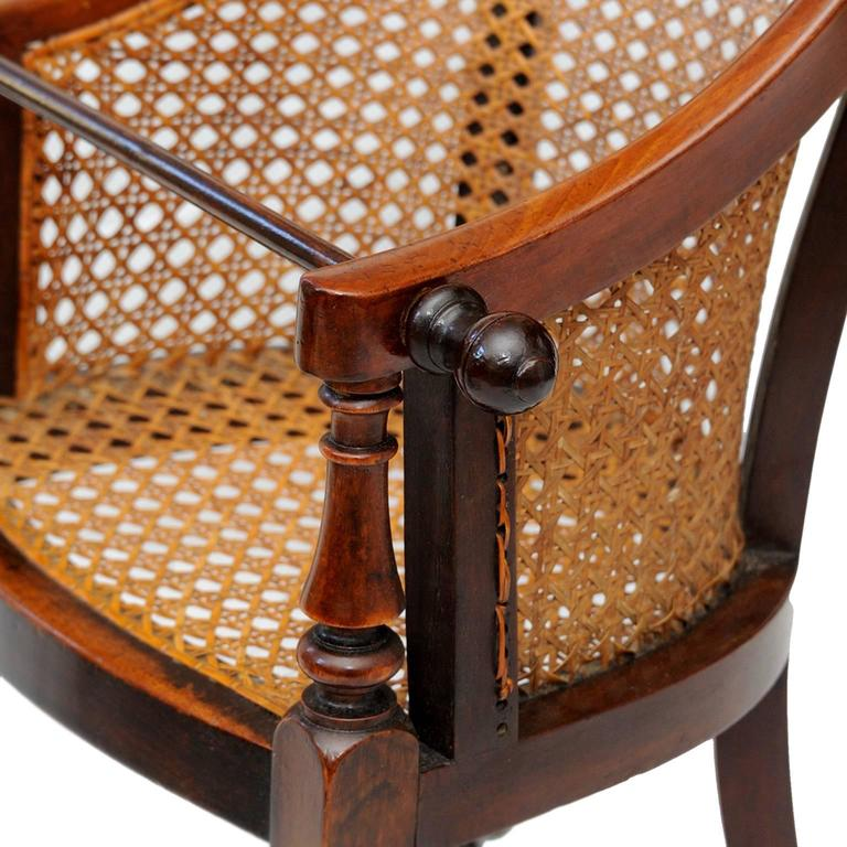Reed English George III Late 18th Century Mahogany Childs Chair and Table, circa 1790 For Sale