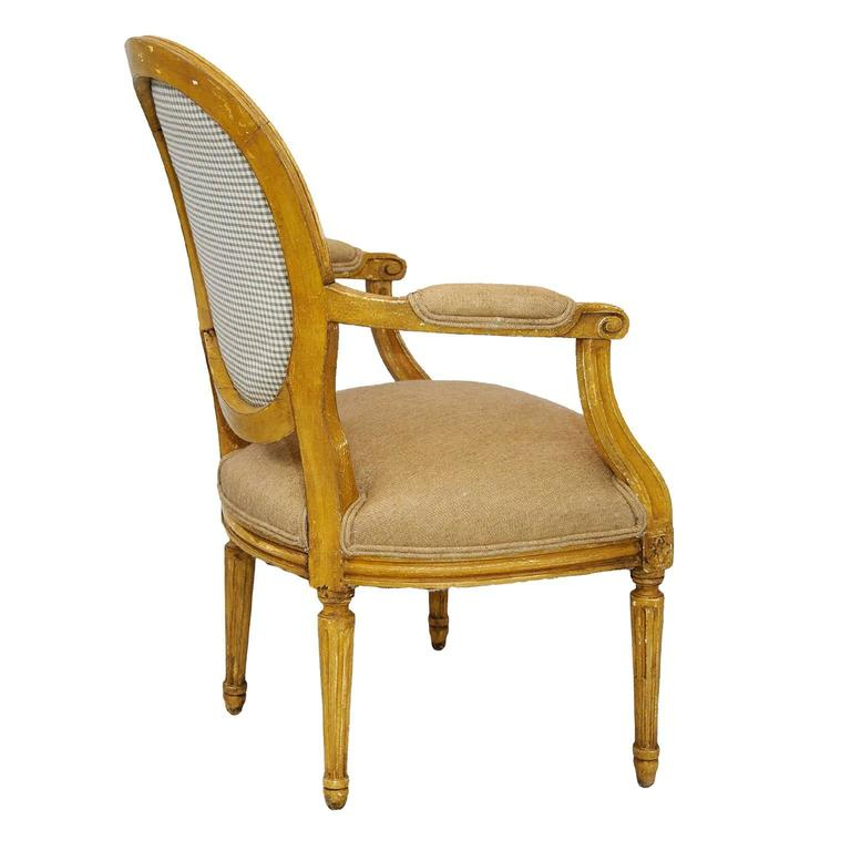 Pair Of French Neoclassical Painted Louis XVI Open
