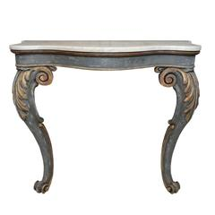 English Early 19th Century, Late Regency Painted Console Table, circa 1825