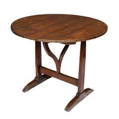 Mid-19th Century French Oak and Pine Wine Tasting Table, circa 1840
