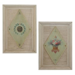 Pair of Important French Painted Garden Panels with Imperial Provenance