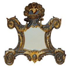 Rare French Louis XVI Giltwood and Painted Faux Marble Mirror, circa 1780