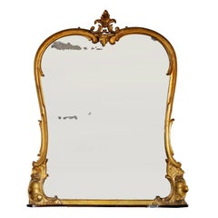 English 19th Century George IV Carved Giltwood Overmantle Mirror, circa 1825