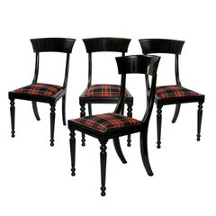 Set of Four Early 19th century Ebonized Side Chairs, circa 1830