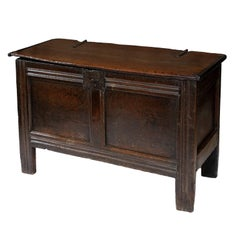 Small 17th Century Oak Coffer, circa 1680