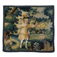 French Verdure Tapestry Fragment, circa 1680-1720